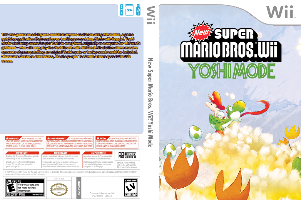 New Super Mario Bros. Wii: Yoshi Mode Wii coverfullHQ2 (SMNE34)