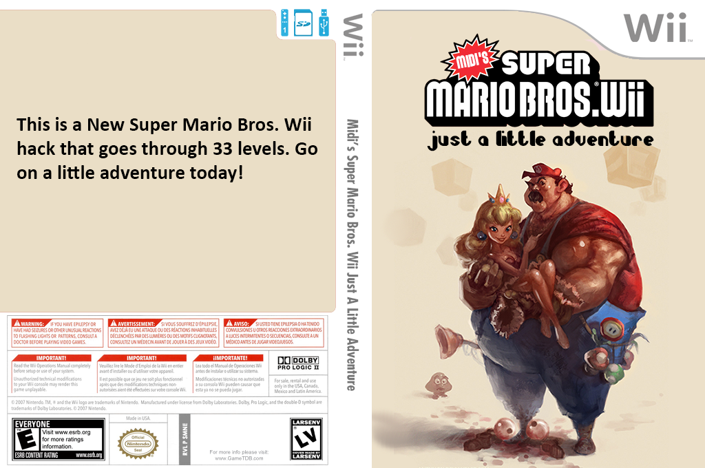 Midi's Super Mario Bros. Wii Just a Little Adventure Wii coverfullHQ2 (SMNEMI)