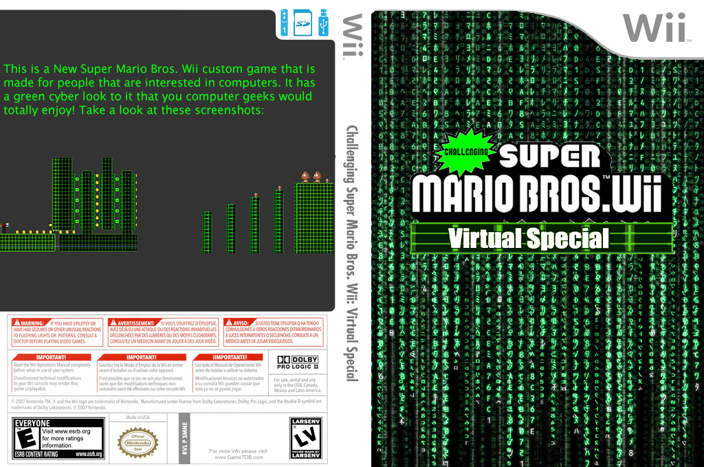 Challenging Super Mario Bros. Wii: Virtual Special Wii coverfullHQ2 (SMNEZC)