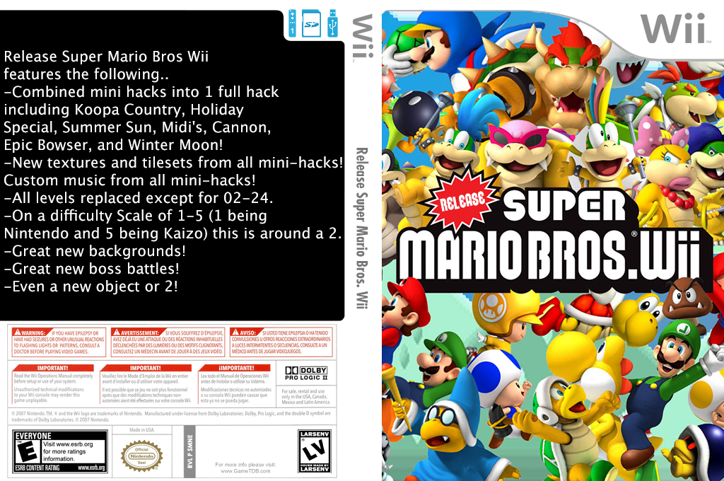 Release Super Mario Bros. Wii Wii coverfullHQ2 (SMNEZV)