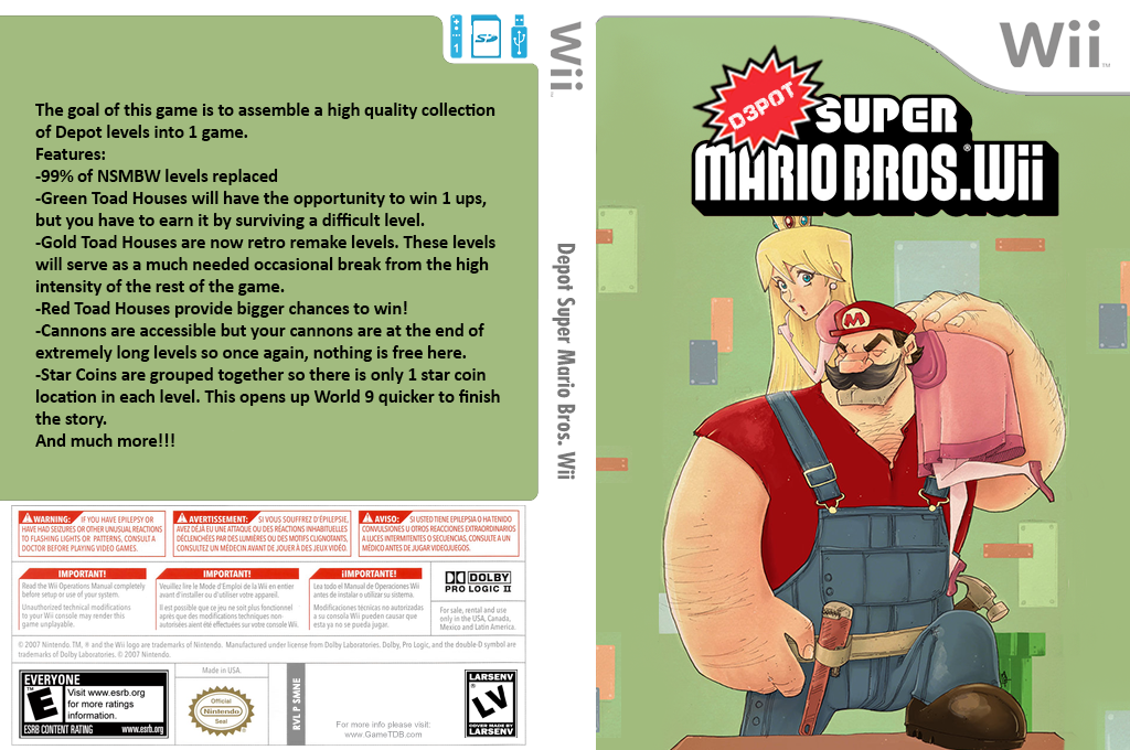 Depot Super Mario Bros. Wii Wii coverfullHQ2 (SMNEZW)