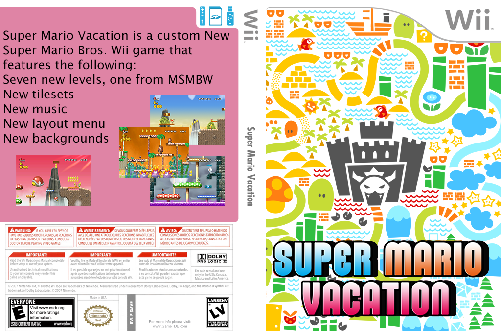 Super Mario Vacation Wii coverfullHQ2 (SMVE01)