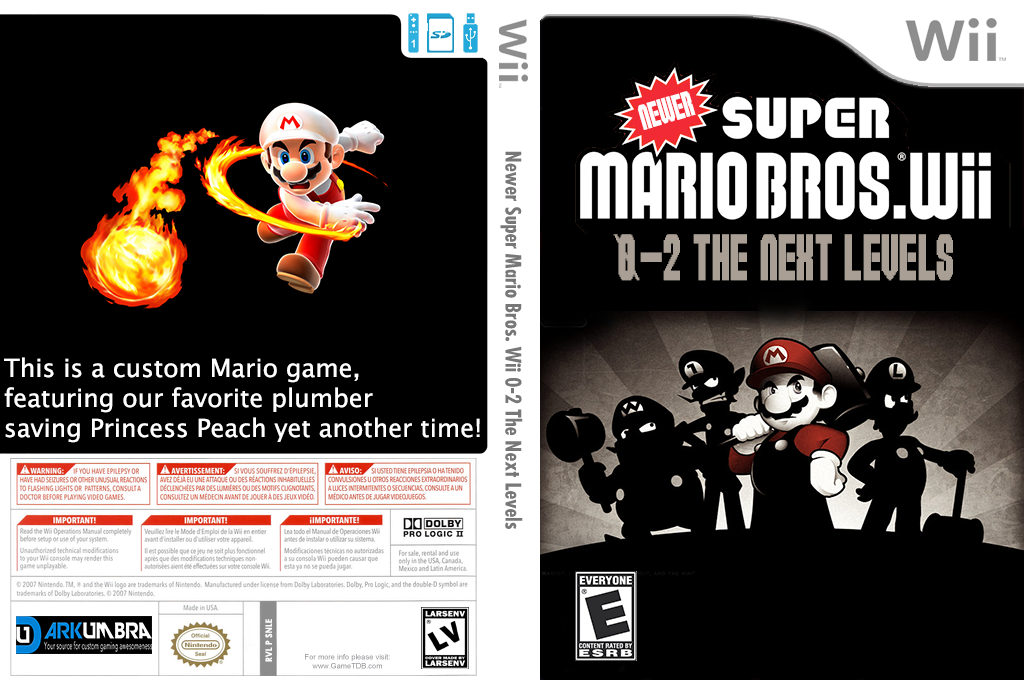 New Super Mario Bros. Wii 0-2 Next Generation Levels Wii coverfullHQ2 (SNLE01)