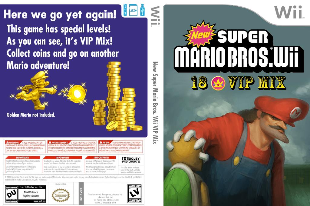 New Super Mario Bros Wii 18 Vip Mix Wii coverfullHQ2 (VIPE01)