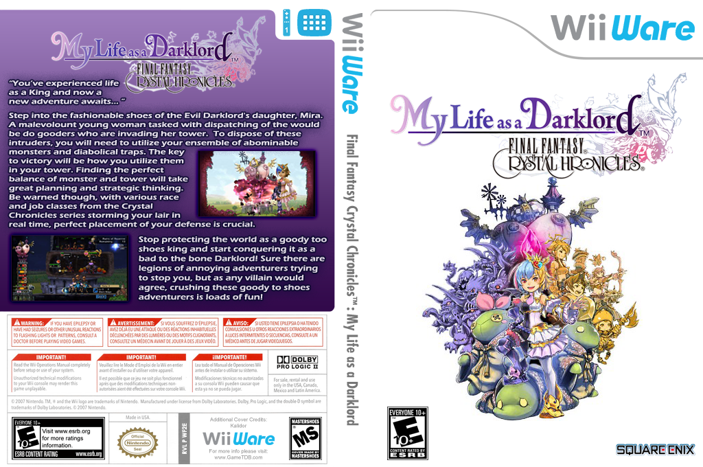 Final Fantasy Crystal Chronicles: My Life as a Darklord Wii coverfullHQ2 (WF2E)