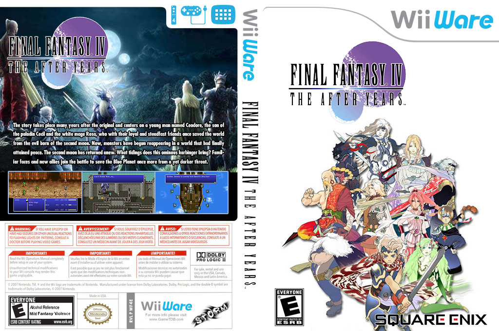 Final Fantasy IV: The After Years Wii coverfullHQ2 (WF4E)