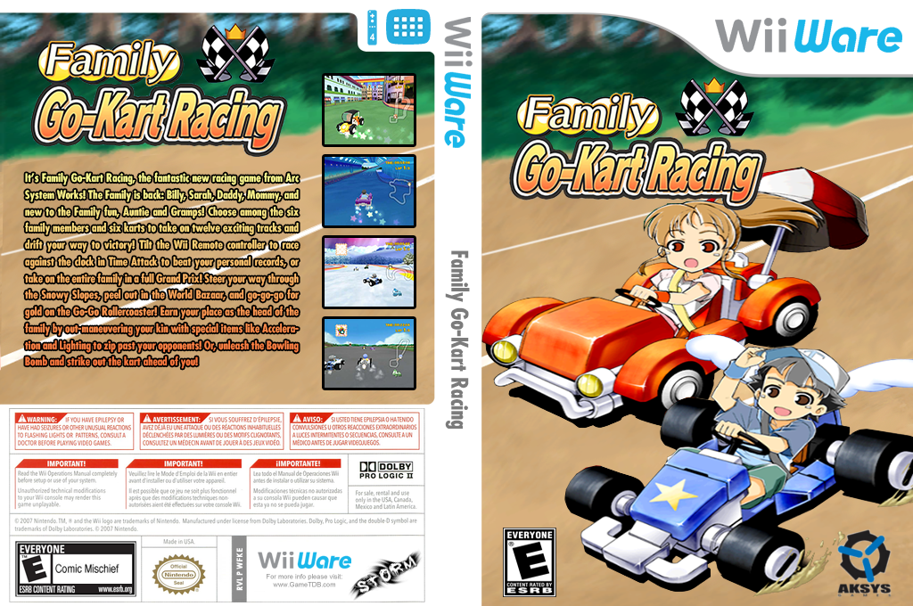 Family Go-Kart Racing Wii coverfullHQ2 (WFKE)