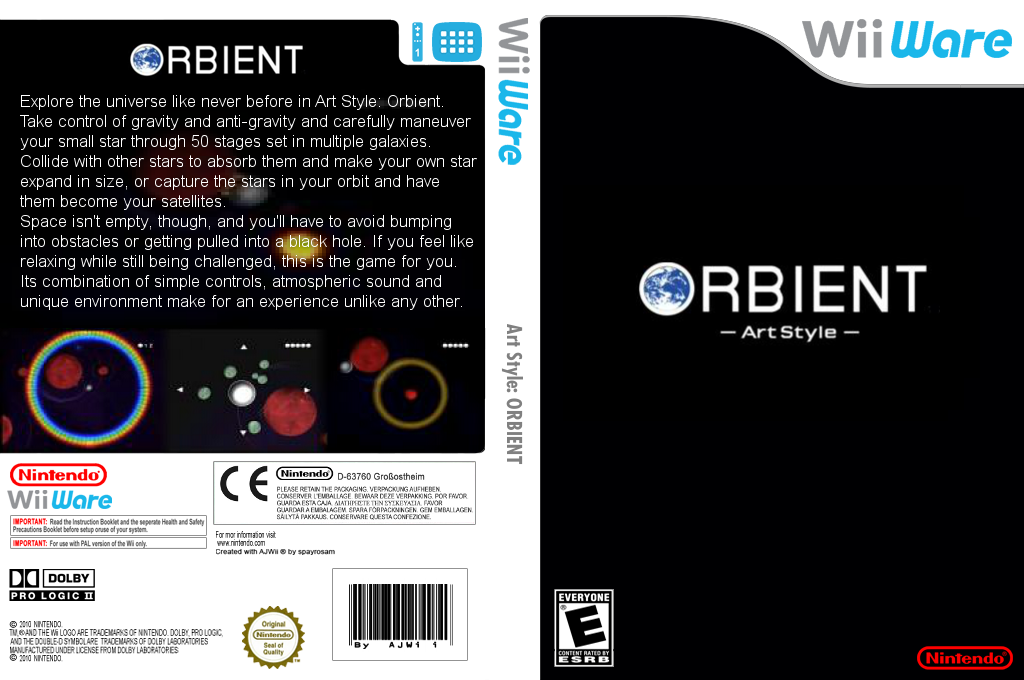 Art Style: ORBIENT Wii coverfullHQ2 (WOBE)