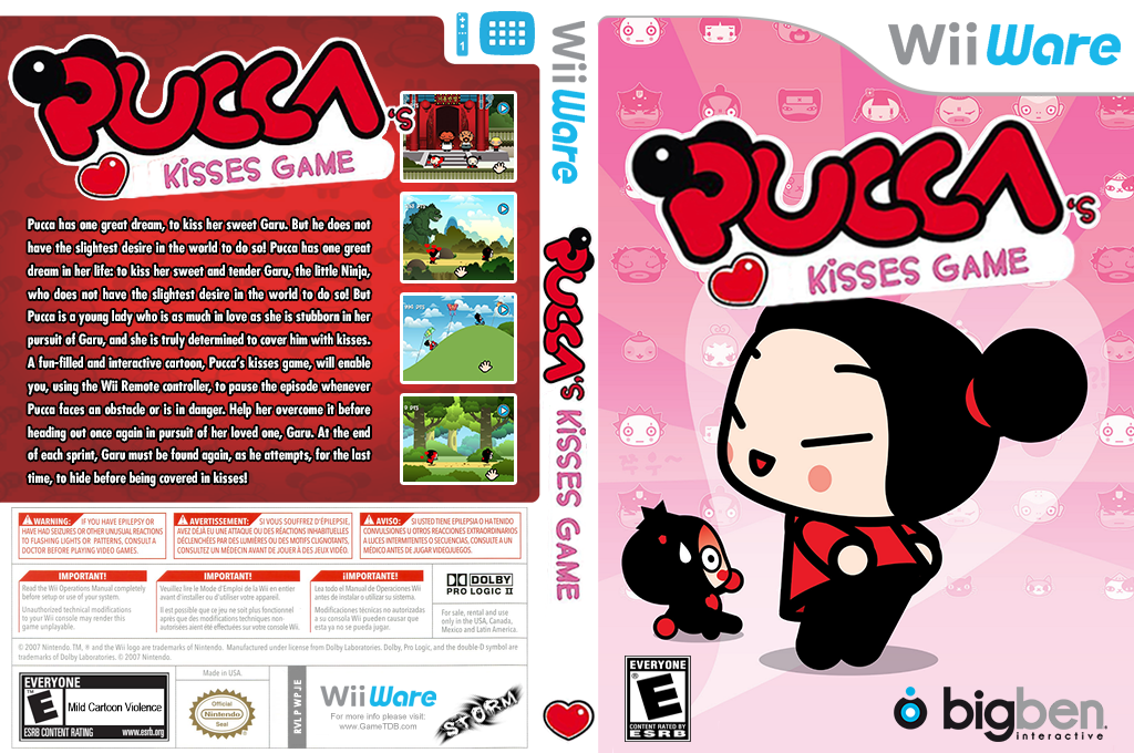 Pucca's Kisses Game Wii coverfullHQ2 (WPJE)