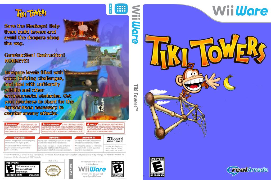 Tiki Towers Wii coverfullHQ2 (WTIE)