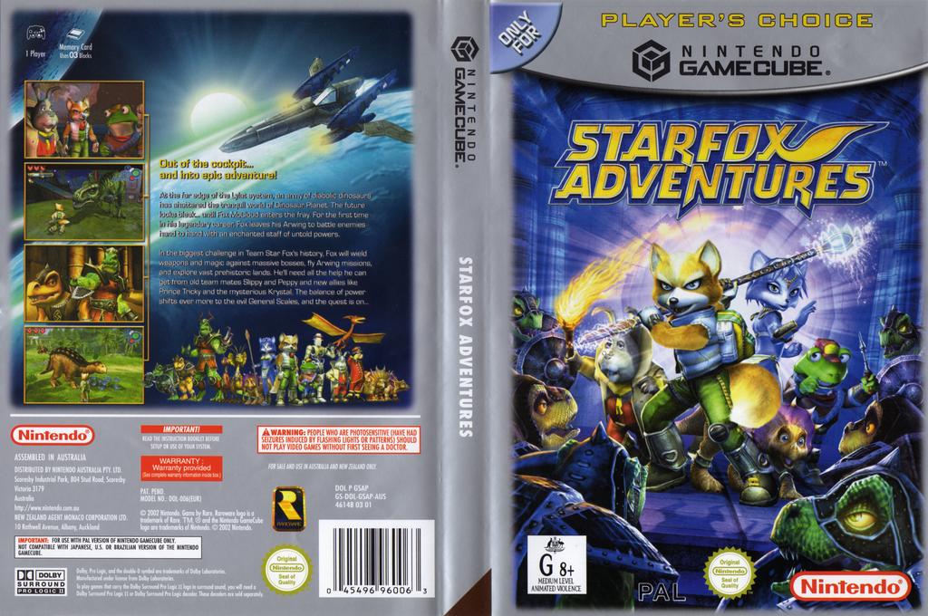 Star Fox Adventures Wii coverfullHQB (GSAP01)
