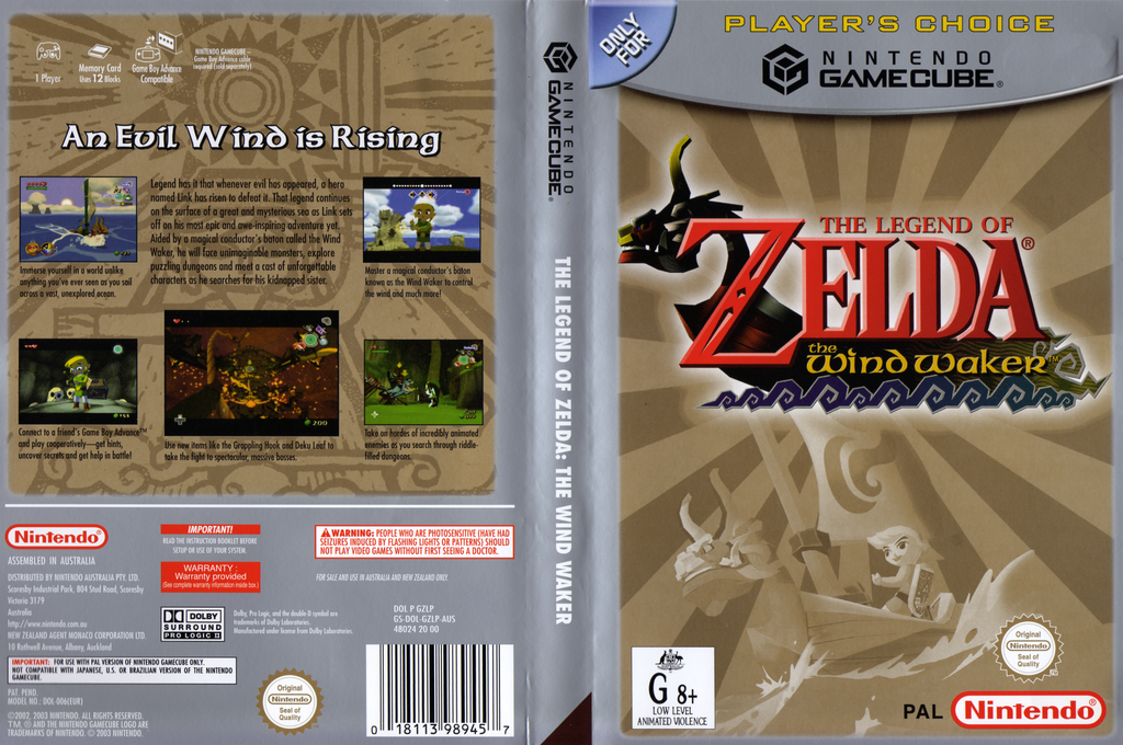 The Legend of Zelda: The Wind Waker Wii coverfullHQB (GZLP01)