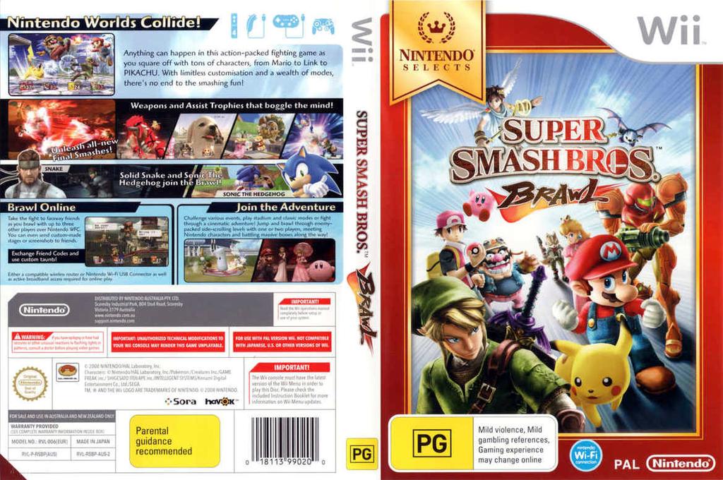 Super Smash Bros. Brawl Wii coverfullHQB (RSBP01)