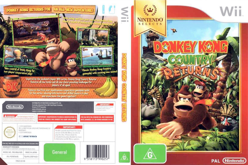 Donkey Kong Country Returns Wii coverfullHQB (SF8P01)