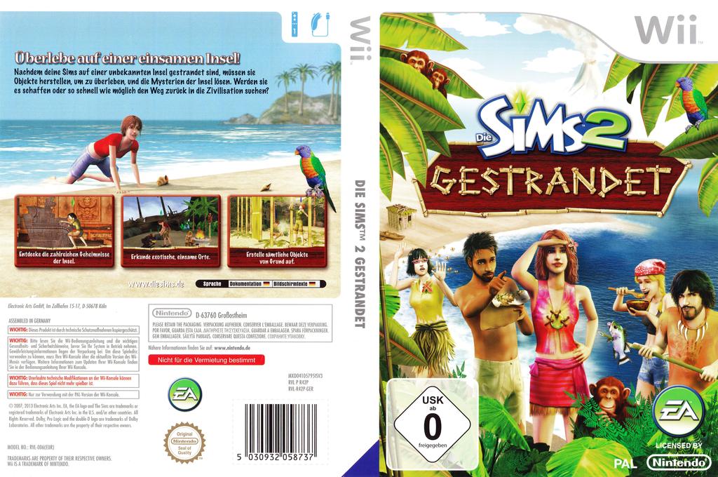 Die Sims 2: Gestrandet Wii coverfullHQB (R42P69)