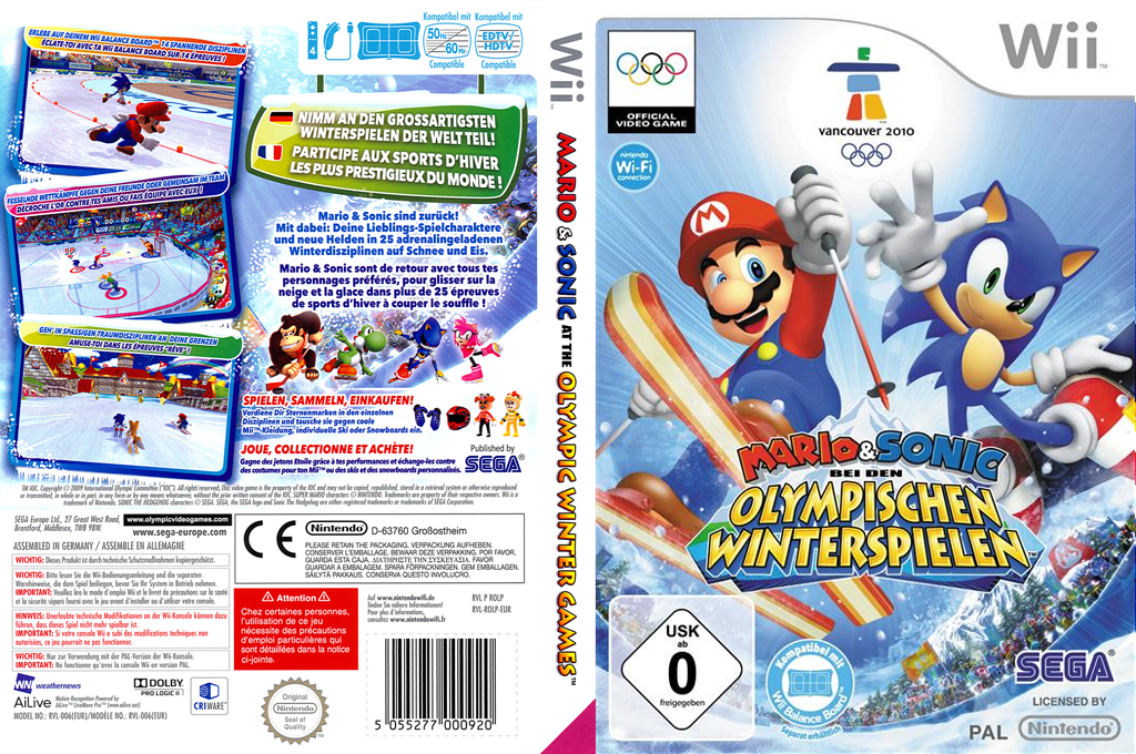 Rolp8p Mario Sonic At The Olympic Winter Games