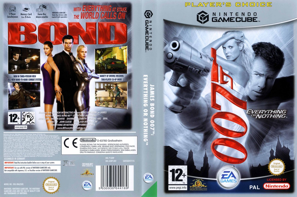 James Bond 007: Everything Or Nothing Wii coverfullHQB (GENP69)