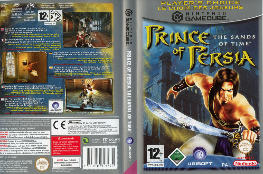 Prince of Persia: The Sands of Time Wii coverfullHQB (GPTP41)