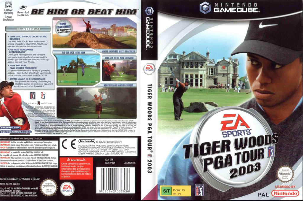 Tiger Woods PGA Tour 2003 Wii coverfullHQB (GTIP69)