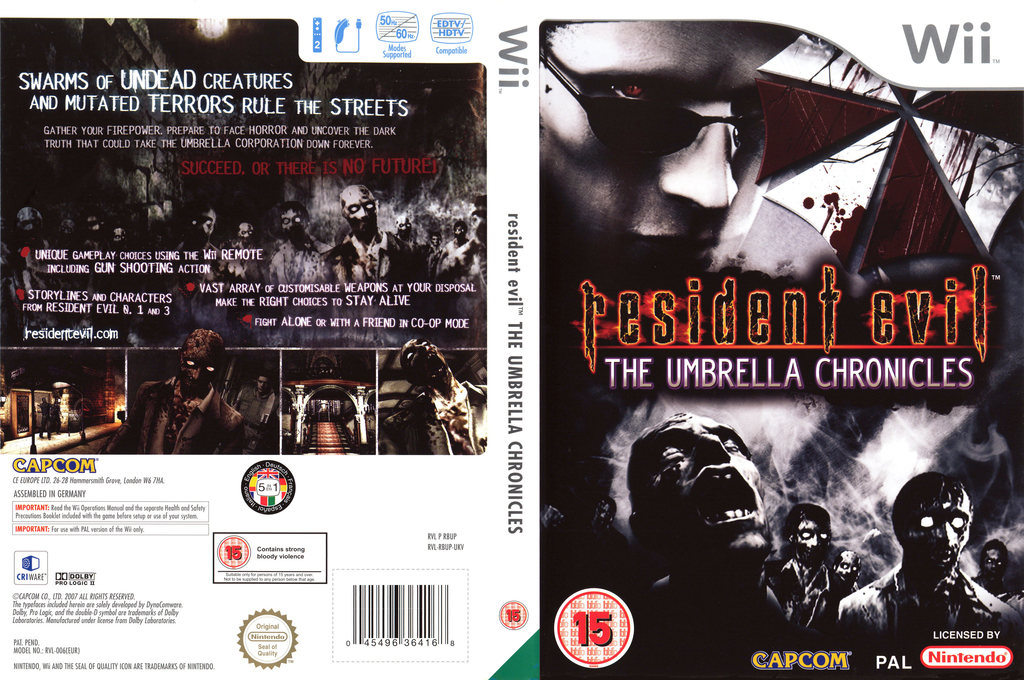 Resident Evil: The Umbrella Chronicles Wii coverfullHQB (RBUP08)
