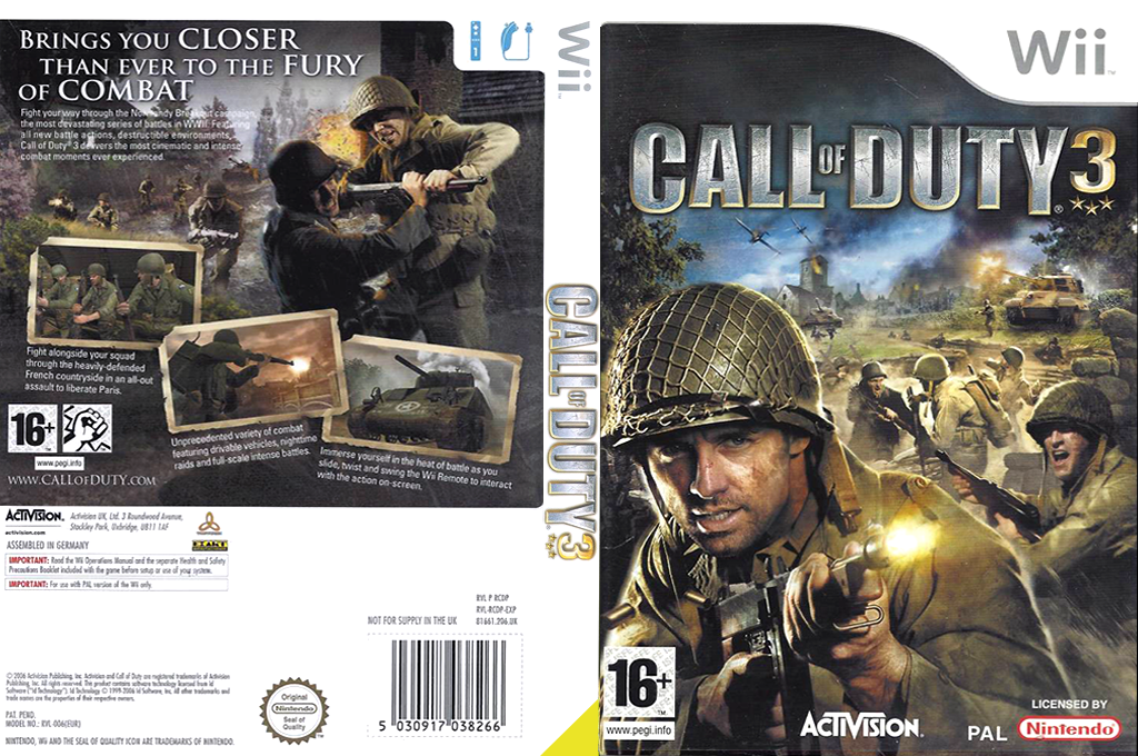 Call of Duty 3 Wii coverfullHQB (RCDP52)
