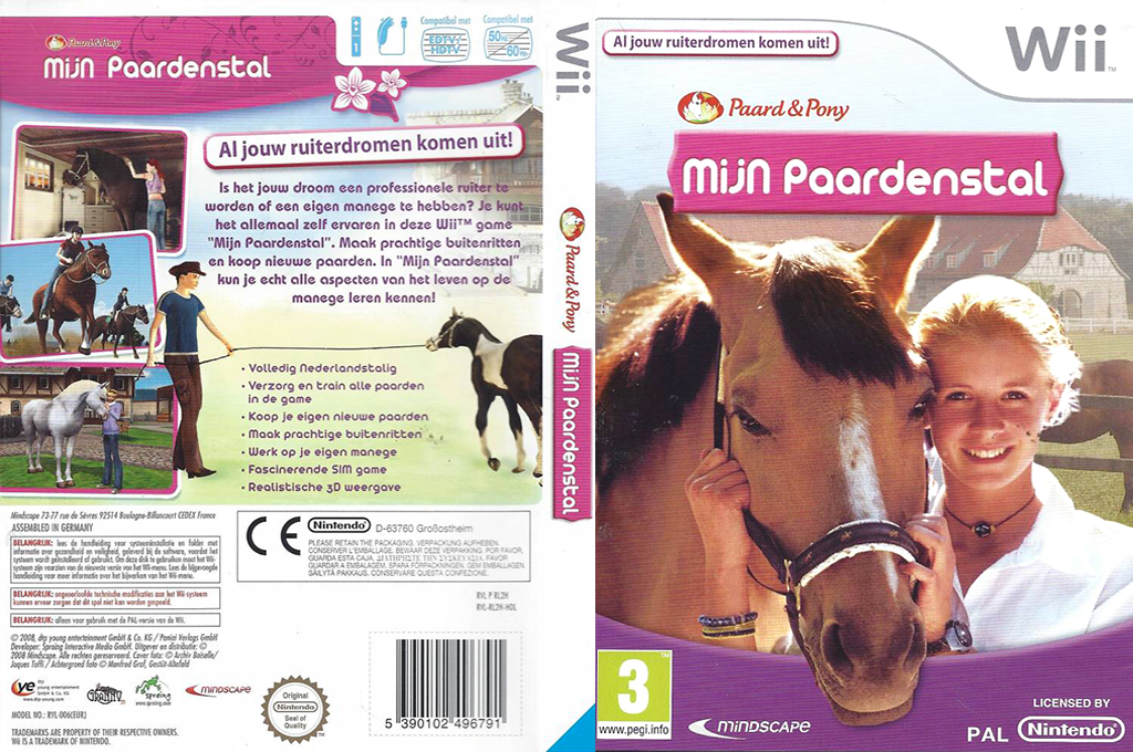 Horse & Pony: My Riding Stables Wii coverfullHQB (RL2HMN)