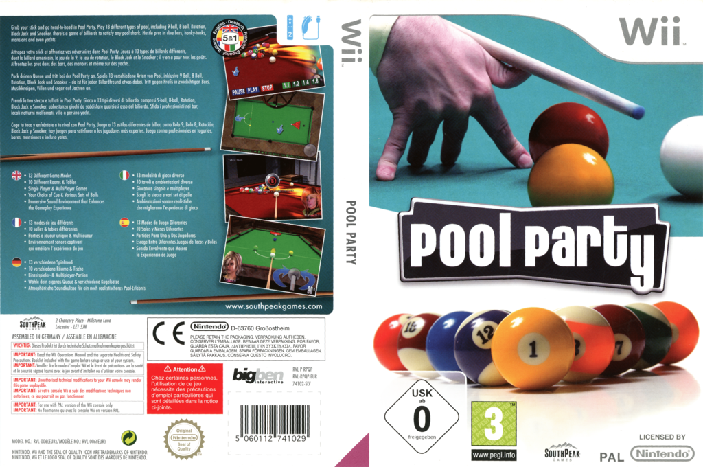 Pool Party Wii coverfullHQB (RPQPS5)