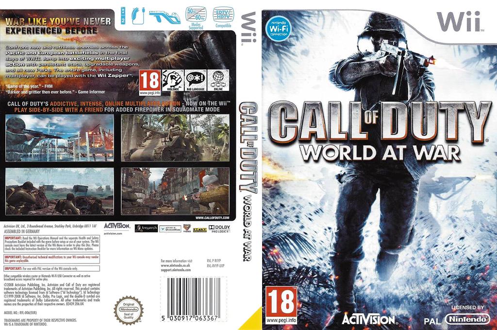 Call of Duty: World at War Wii coverfullHQB (RVYP52)