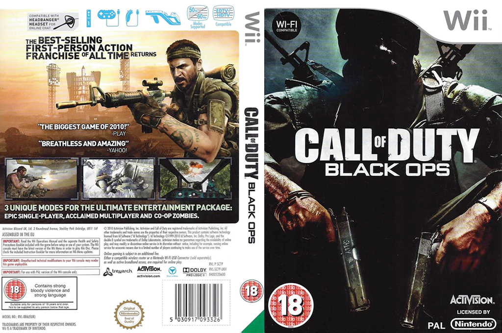 Call of Duty: Black Ops Wii coverfullHQB (SC7P52)