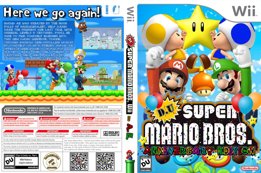 DU Super Mario Bros.:Anniversary Edition Wii coverfullHQB (SMNPDU)