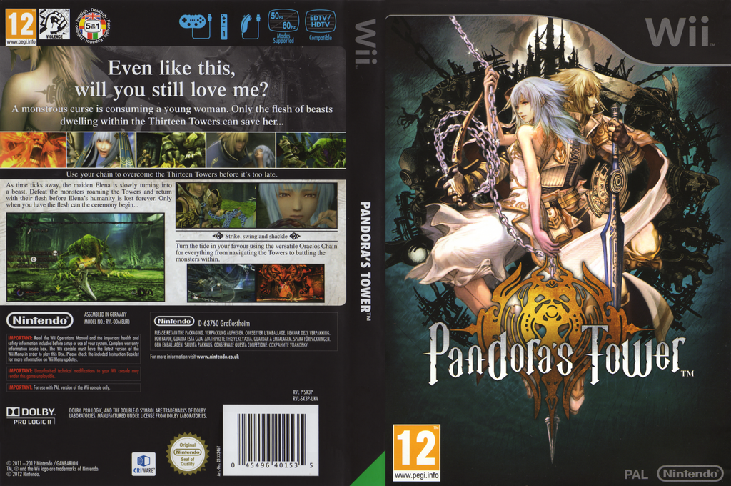 Pandora's Tower Wii coverfullHQB (SX3P01)