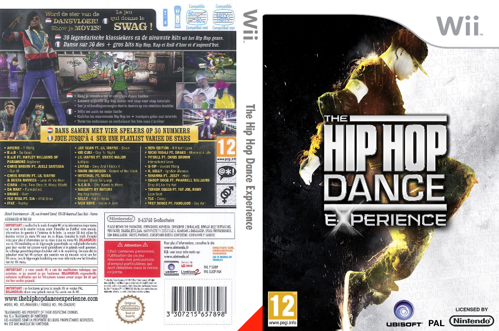 The Hip Hop Dance Experience Wii coverfullHQB (SUOP41)