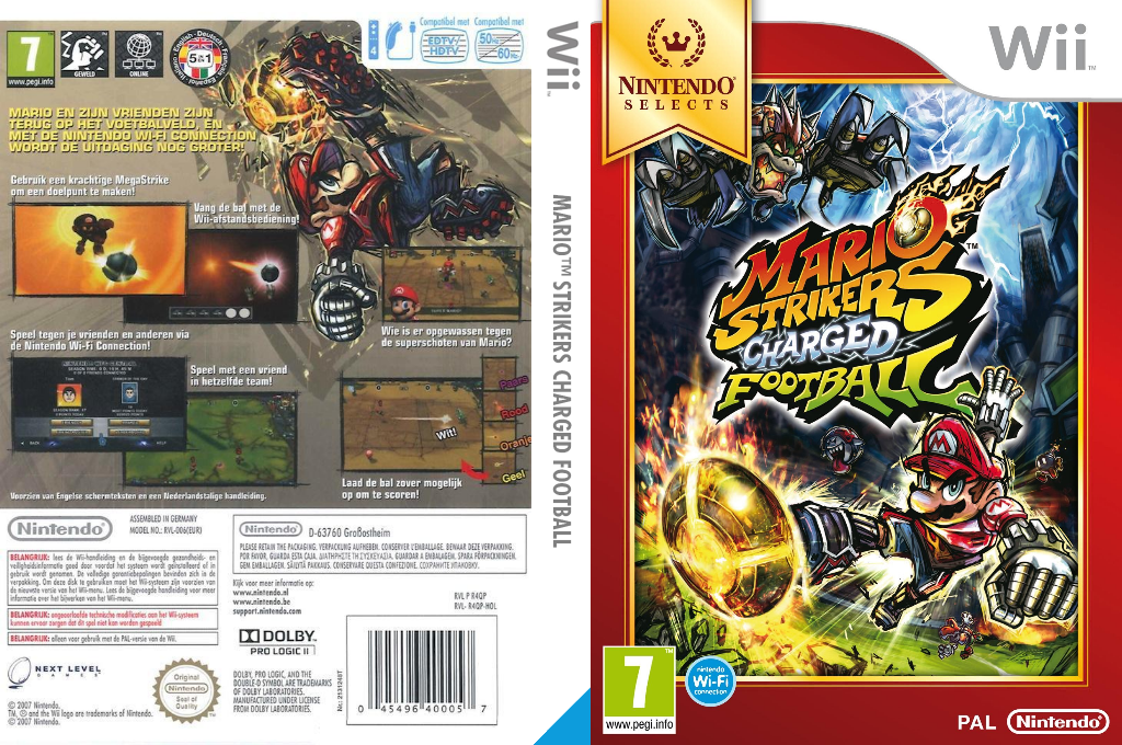 Mario Strikers Charged Football Wii coverfullHQB (R4QP01)
