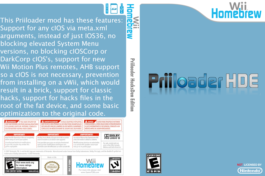 Priiloader HacksDen Edition Wii coverfullHQB (D58A)