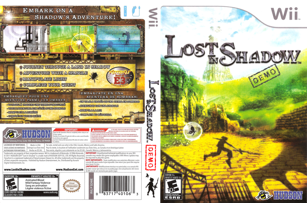 Lost in Shadow - Press Disc (Demo) Wii coverfullHQB (DDWE18)