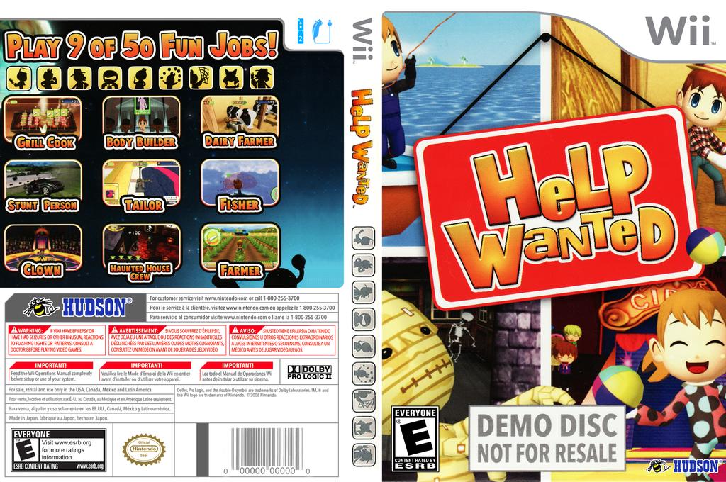 Help Wanted: 50 Wacky Jobs (Demo) Wii coverfullHQB (DHKE18)