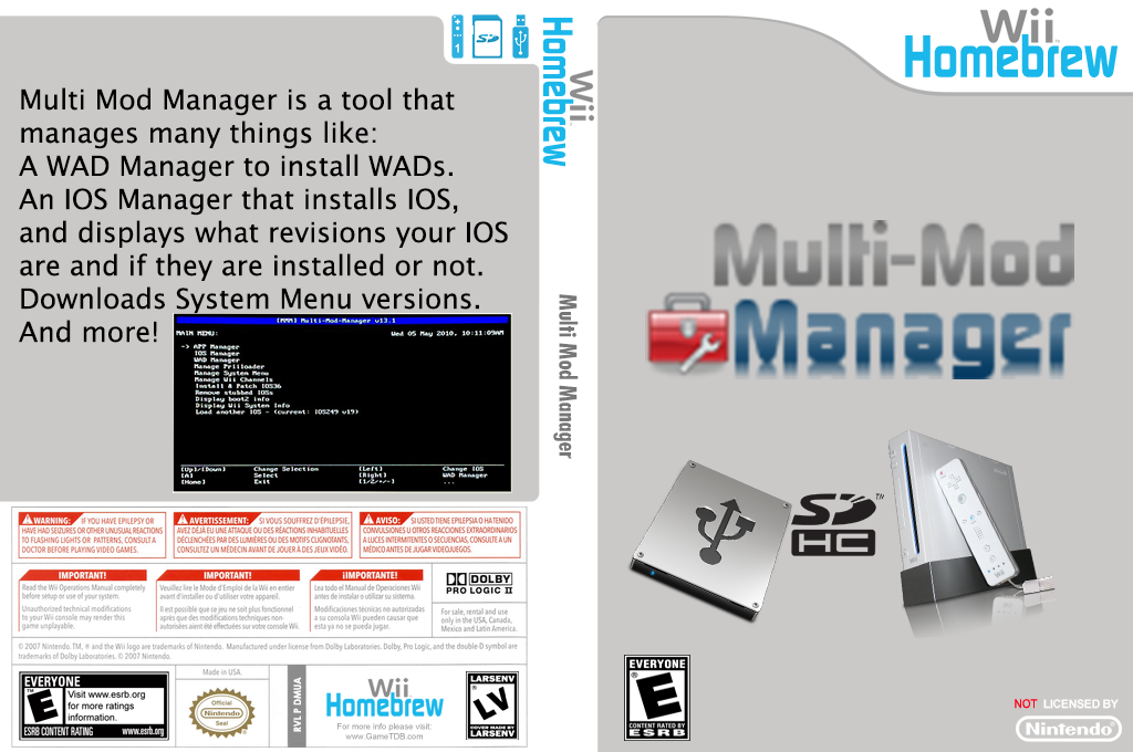 Multi Mod Manager Wii coverfullHQB (DMUA)