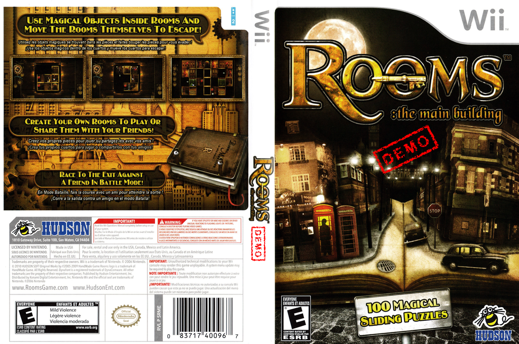 Rooms: The Main Building (Demo) Wii coverfullHQB (DRME18)