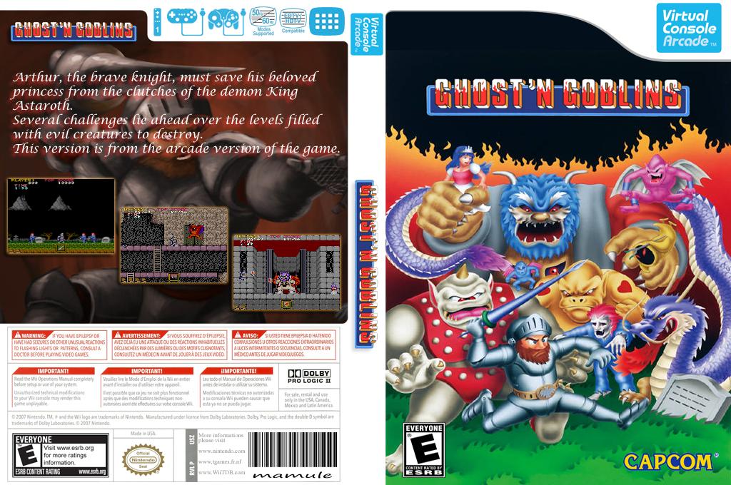 Ghosts 'n Goblins Wii coverfullHQB (E54E)