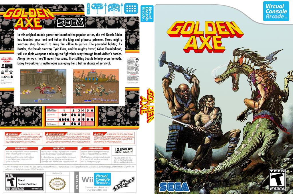 Golden Axe Wii coverfullHQB (E6WE)