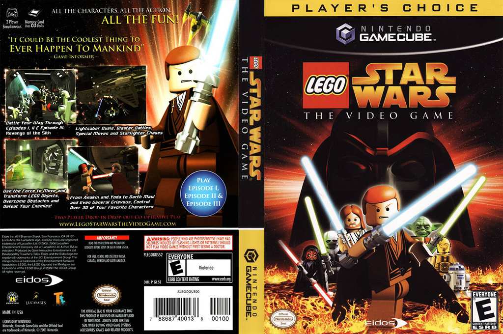 LEGO Star Wars: The Video Game Wii coverfullHQB (GL5E4F)