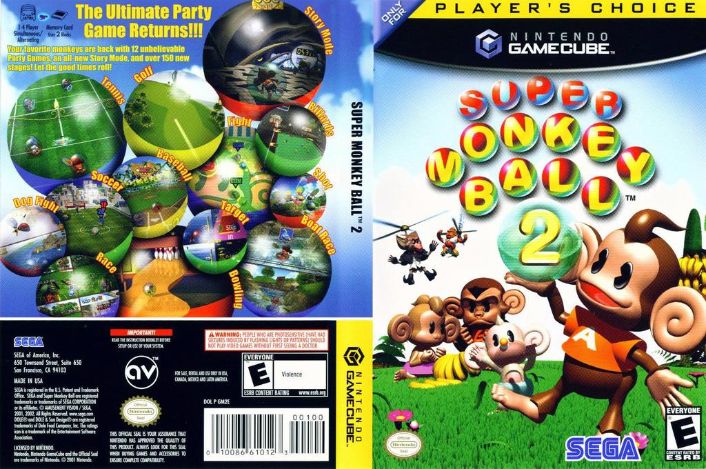 Super Monkey Ball 2 Wii coverfullHQB (GM2E8P)