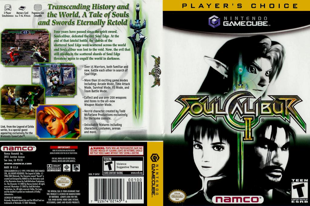 SoulCalibur II Wii coverfullHQB (GRSEAF)