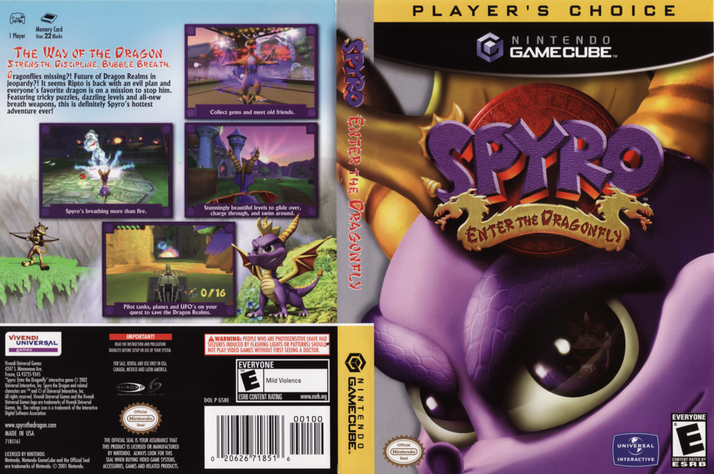 Spyro:Enter the Dragonfly Wii coverfullHQB (GS8E7D)