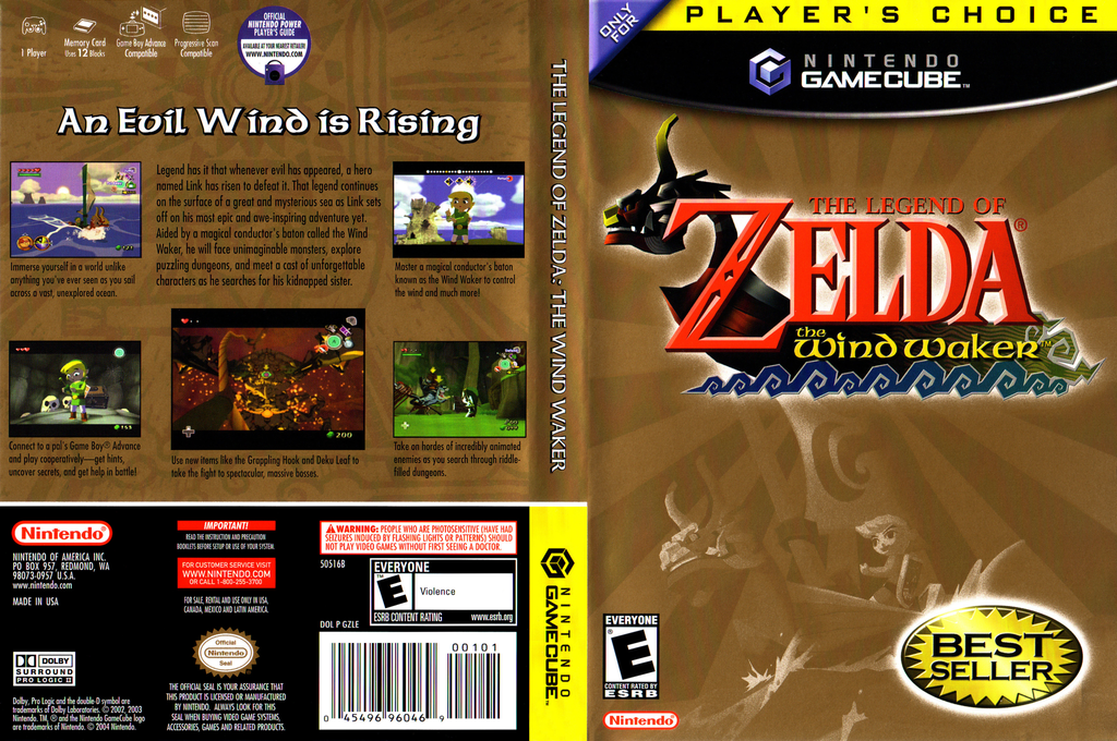 The Legend of Zelda: The Wind Waker Wii coverfullHQB (GZLE01)