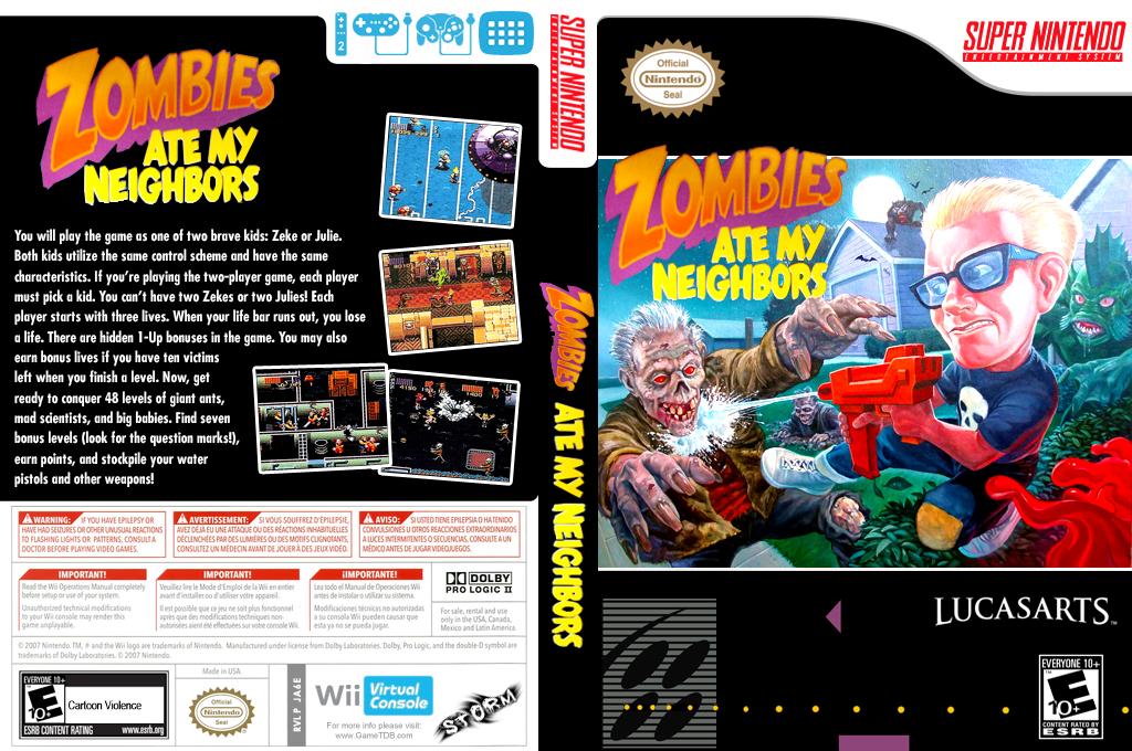 Zombies Ate My Neighbors Wii coverfullHQB (JA6E)