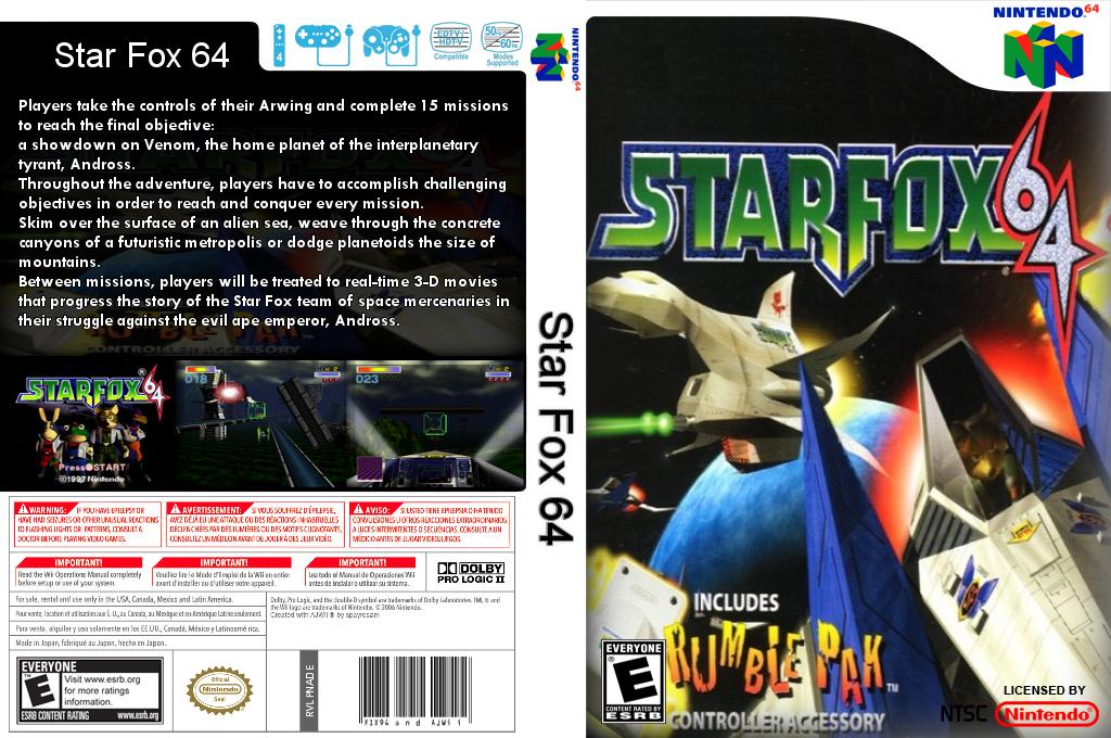 Star Fox 64 Wii coverfullHQB (NADE)
