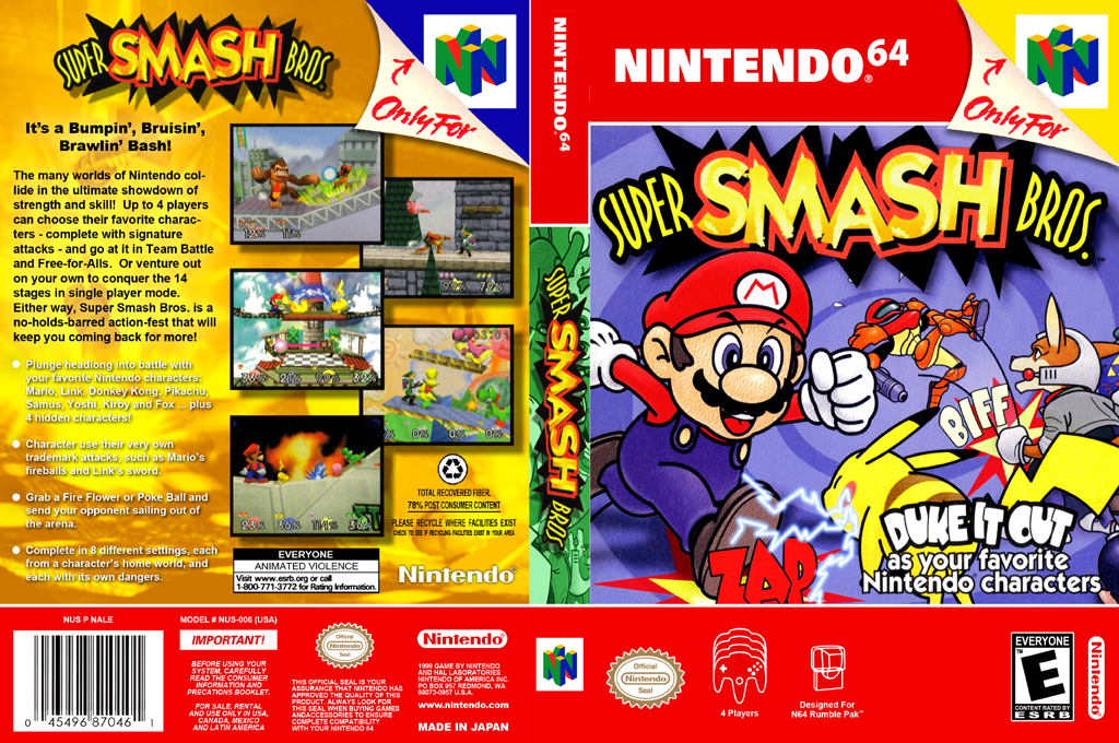 Super Smash Bros. Wii coverfullHQB (NALE)