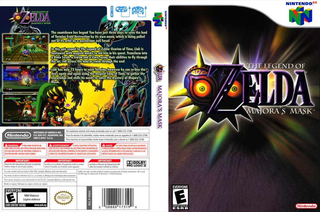 The Legend of Zelda: Majora's Mask Wii coverfullHQB (NARE)