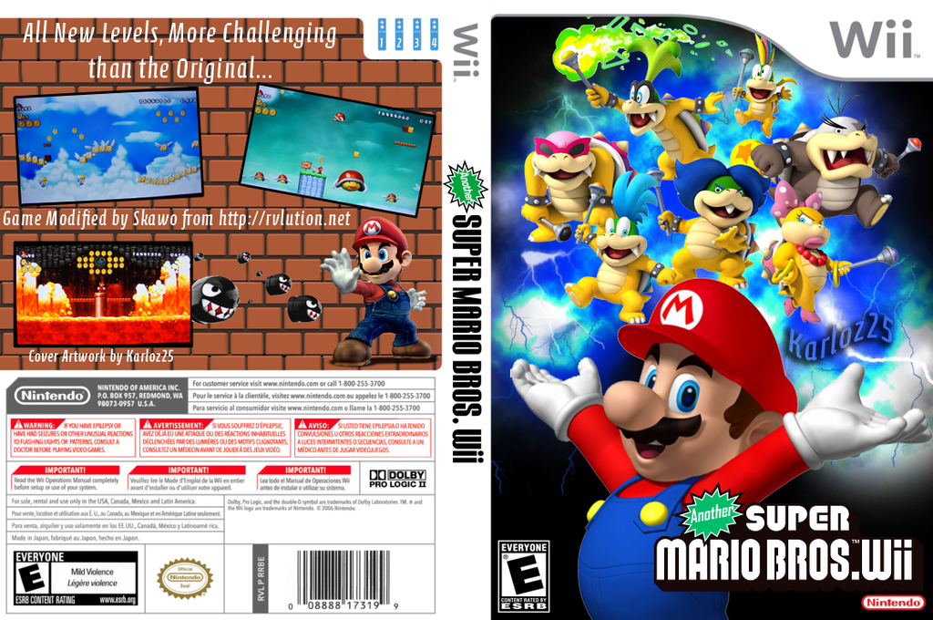 Another Super Mario Bros. Wii Wii coverfullHQB (PDUE01)